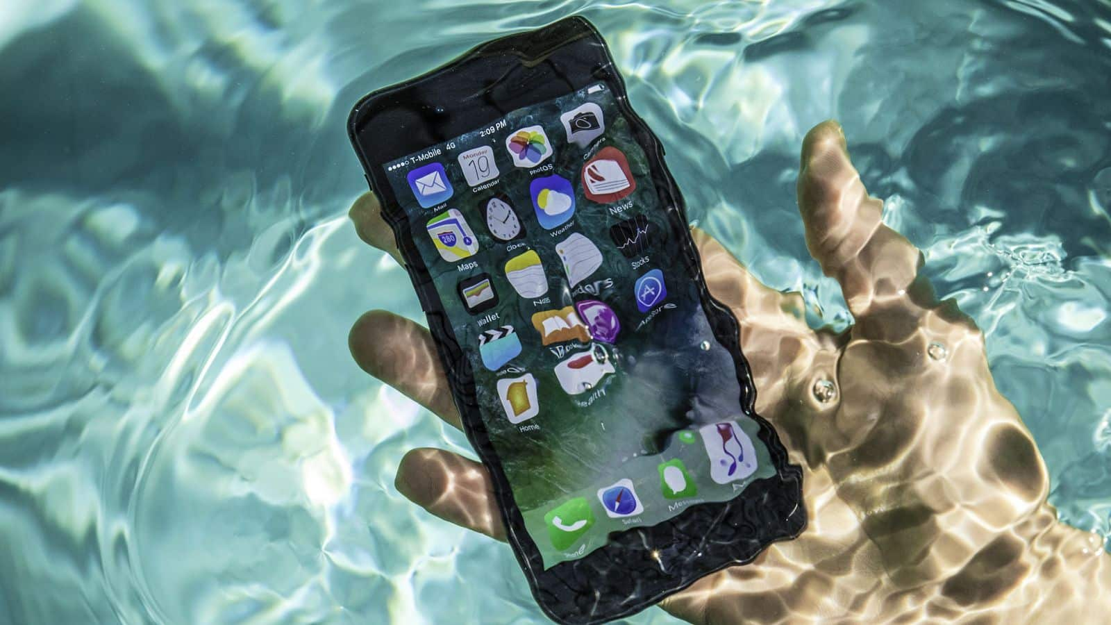 iPhone 7 tombé dans l'eau