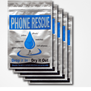 Pochette pour sécher téléphone tombé dans l'eau